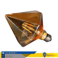 لامپ ادیسونی طرح و مدل الماس تیز فیلامنتی